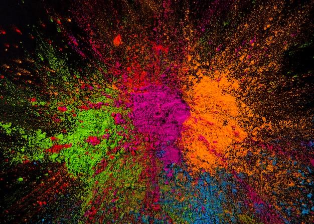 Helle mehrfarbige bespritzte holi-farben