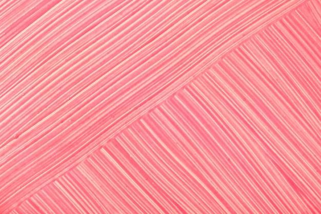 Helle rote farbe des abstrakten fließenden kunsthintergrundes. acrylmalerei auf leinwand mit rosa farbverlauf