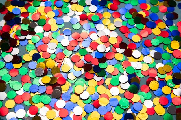 Helle runde konfetti