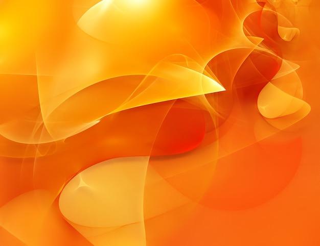 Heller abstrakter orangefarbener hintergrund mit chaotischen linien im vollbildmodus