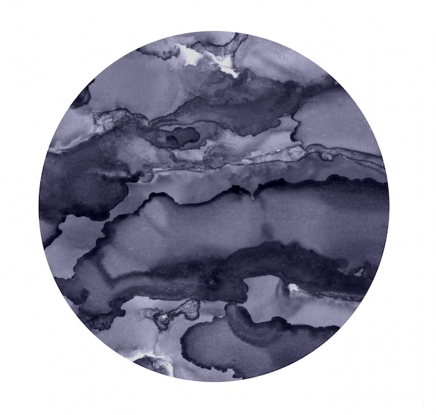 Heller aquarellfleck. gemalter grauer kreis. abstrakte beschaffenheit getrennt auf weiß. malerei dekoration.