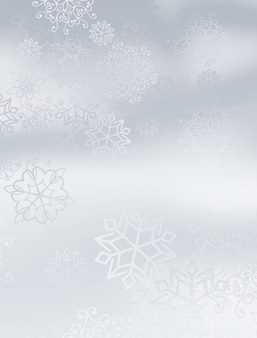 Heller hintergrund mit schneeflockenmuster