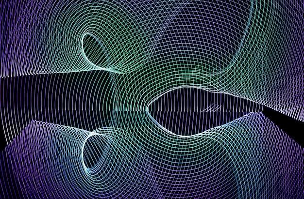 Heller neon-linien-design-hintergrund, mit langzeitbelichtung aufgenommen, grün