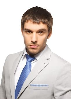Helles bild eines gutaussehenden mannes im anzug.