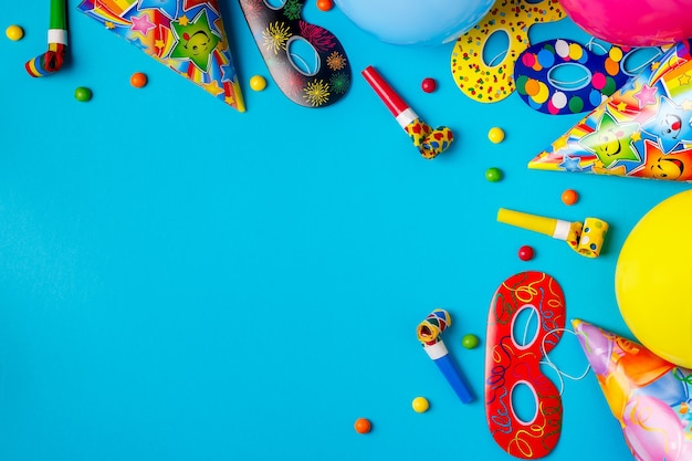 Helles dekor für geburtstag, party, festival oder karneval.
