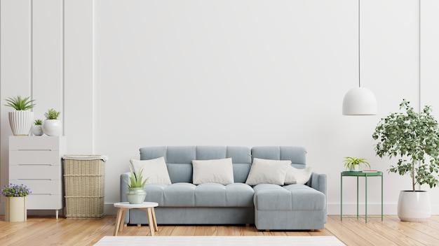 Helles und gemütliches modernes wohnzimmerinterieur