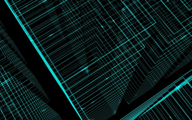 Hellgrüne linien kontrastieren abstrakte technologieillustration