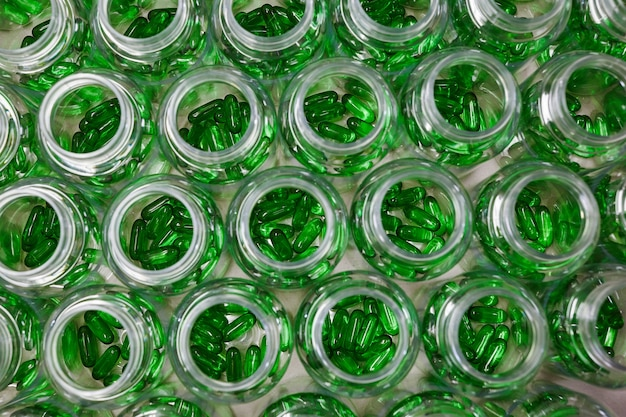 Hellgrüne natürliche fettsäure cla softgels fettabbau