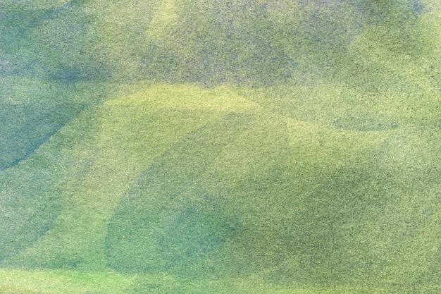 Hellgrüne und olivgrüne farben des hintergrundes der abstrakten kunst. aquarell auf leinwand.