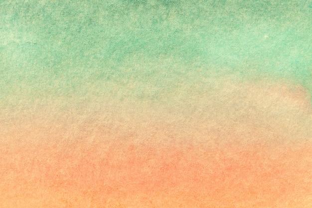 Hellgrüne und rosa farben des hintergrundes der abstrakten kunst. aquarell auf leinwand.