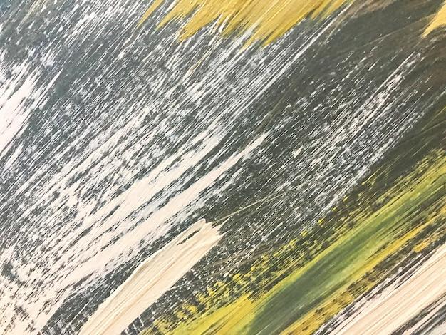 Hellgrüne und weiße farben des abstrakten kunsthintergrundes. aquarell auf leinwand mit olivfarbenem farbverlauf.