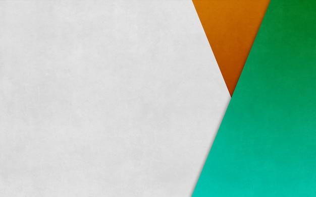 Hellgrünes und orangefarbenes dreieck verpackte papierbeschaffenheitshintergrundgeschäftsfahne