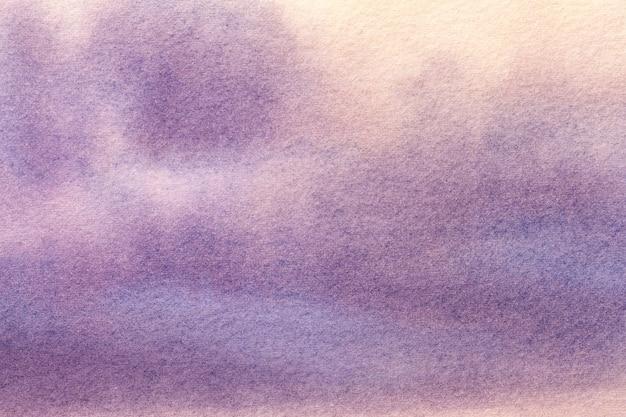 Hellpurpurne und beige farben des hintergrundes der abstrakten kunst. aquarell auf leinwand.