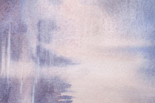 Hellpurpurne und weiße farben des hintergrundes der abstrakten kunst. aquarell auf leinwand.