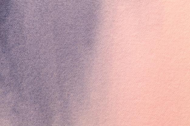 Hellrosa und blaue farben des abstrakten kunsthintergrunds. aquarellmalerei auf leinwand.