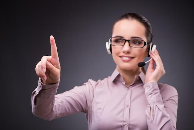 Helpdesk-betreiber im kommunikationskonzept