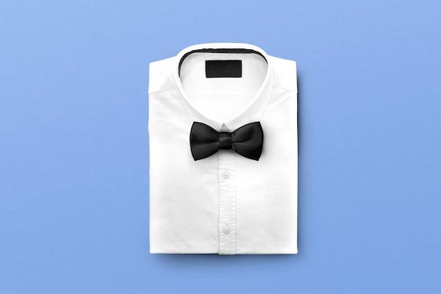 Hemd und schleife, formelles outfit-accessoire für herren