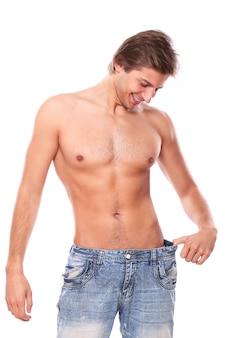 Hemdloses mannmodell