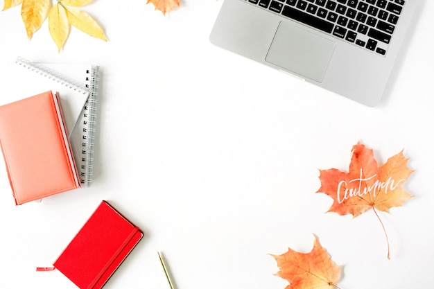 Herbst herbst. arbeitsrahmen für das home office