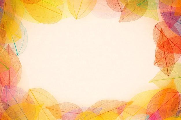 Herbst hintergrund. herbstlaub rahmen