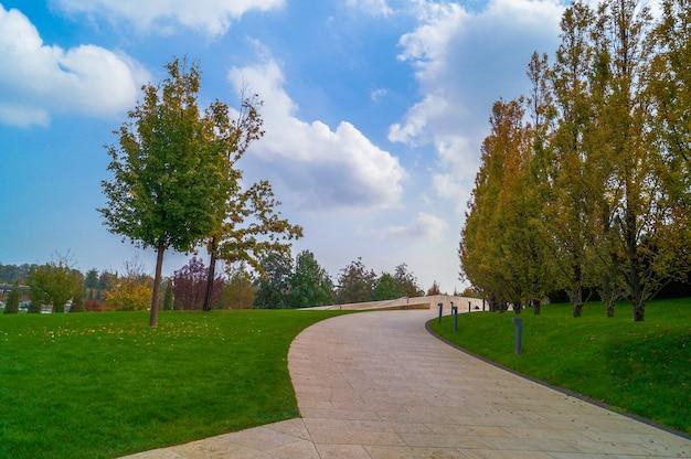 Herbst in einem stadtpark