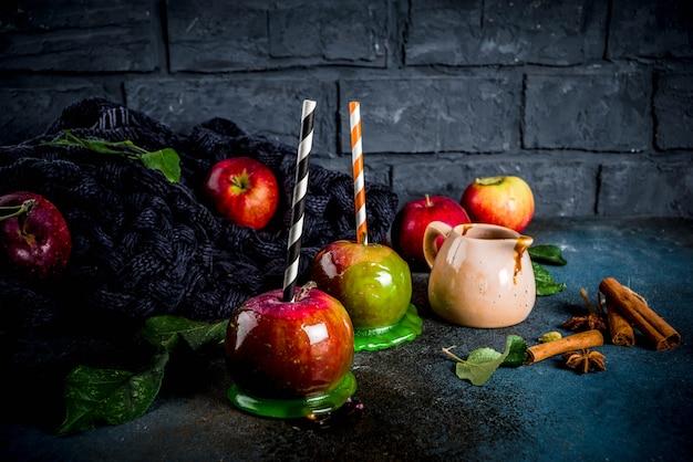 Herbst karamellisierten äpfeln