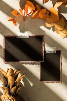 Herbst-moodboard-konzept mit kopierraum