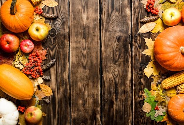 Herbst obst und gemüse