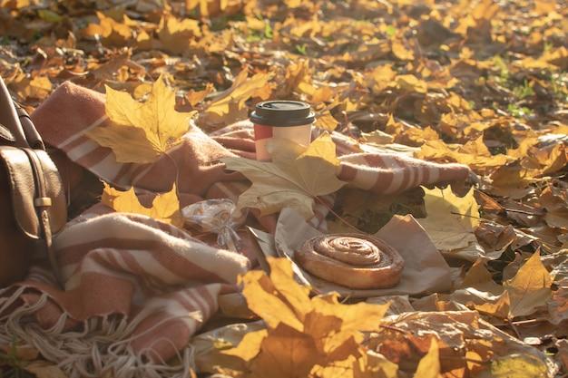 Herbst picknick flach zu legen