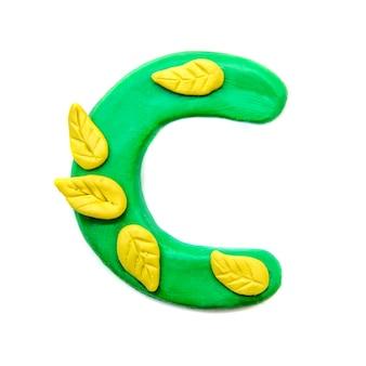 Herbst plastilin buchstabe c des englischen alphabets