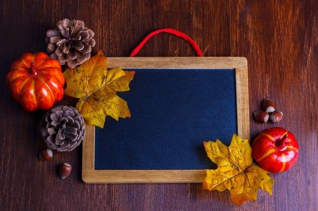 Herbst stilleben anordnung