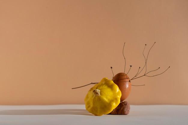Herbst-stillleben-arrangement
