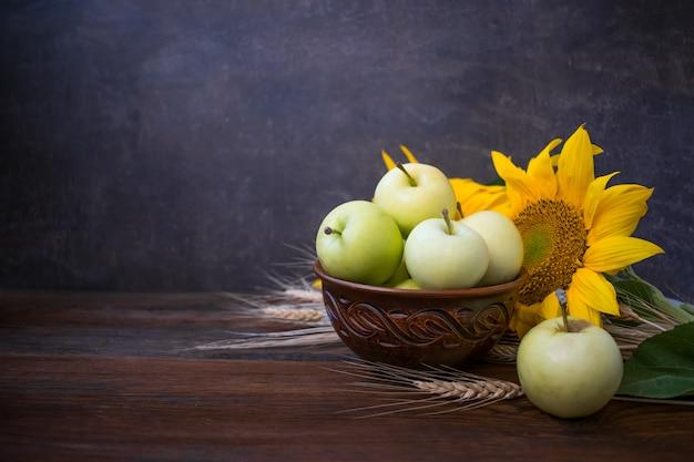 Herbsternte, naturprodukte, grußkarte