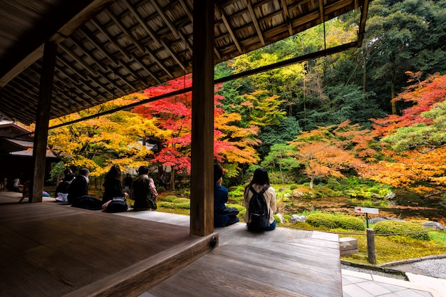 Herbstgarten am nanzen-jitempel, kyoto