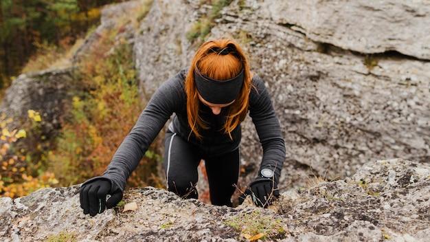 Herbstlauf im freien workout high view
