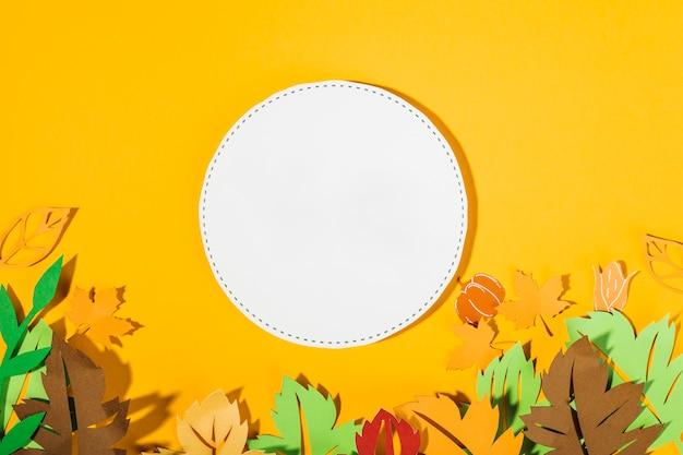 Herbstliche papierkomposition