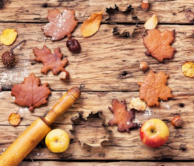 Herbstliche symbolische kekse