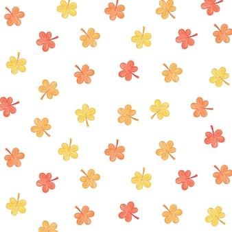Herbstmuster illustration mit blättern