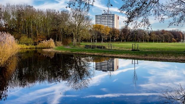 Herbstreflexionen im madestein park in den haag