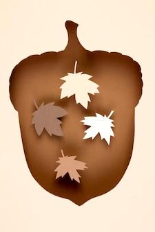 Herbstsortiment im papierstil