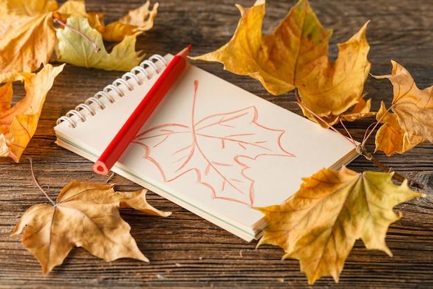 Herbstthema und kreativität