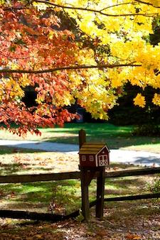 Herbstvogelhaus in den hamptons, new york
