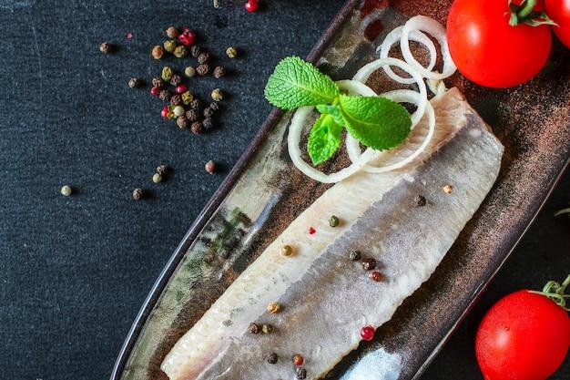 Hering gesalzener fisch meeresfrüchte