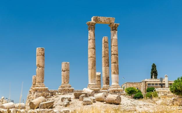 Herkulestempel der zitadelle von amman, jabal al-qal'a - jordanien