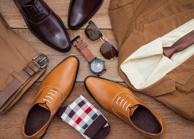 Herrenmode freizeitkleidung set und accessoires