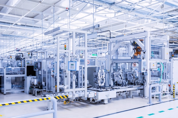 Herstellung von automotoren im autowerk
