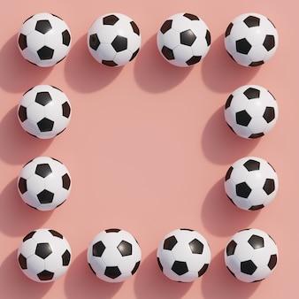 Hervorragender fußball auf rosa