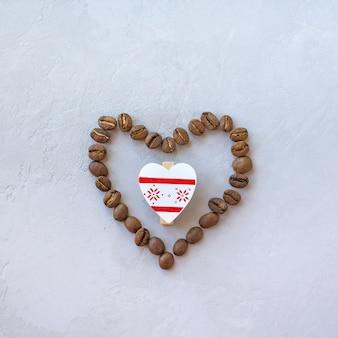 Herz aus kaffee