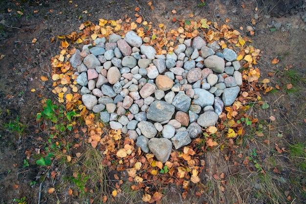 Herz aus steinen.