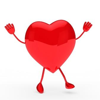 Herz mit armen und beinen